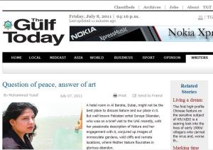 Soraya Sikander work reviewed by The Gulf Today