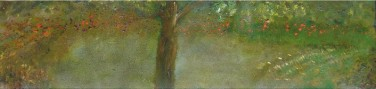 'Landscape lll' oil on canvas, 10 by 30 inches, 2011 (sold)