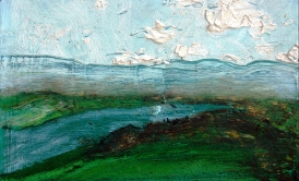 'River' oil on canvas, 12 by 14 inches, 2011 (sold)