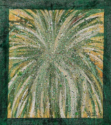 'Bush' oil on canvas, 12 by 14 inches, 2011 (sold)
