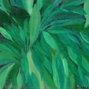 'Leafs' oil on canvas, 12 by 14 inches, 2011 (sold)