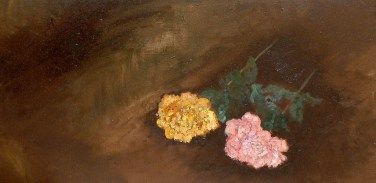 'Still life in brown ll' oil on canvas, 16 by 36 inches, 2011 (sold)