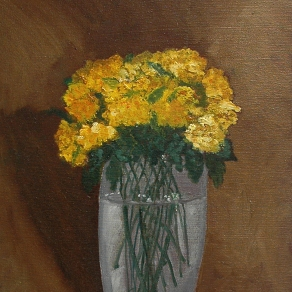'Still life in brown l' oil on canvas, 16 by 36 inches, 2011 (sold)