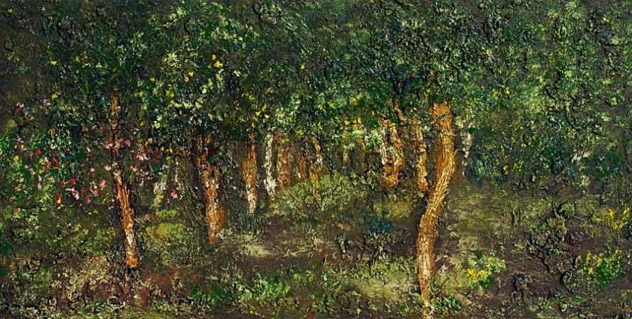 'Landscape' oil on canvas, 18 by 30 inches, 2011 (sold)