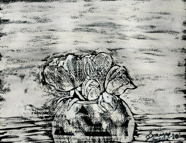 'Untitled lX' ink on paper, 19 by 15 inches, 2010 (sold)