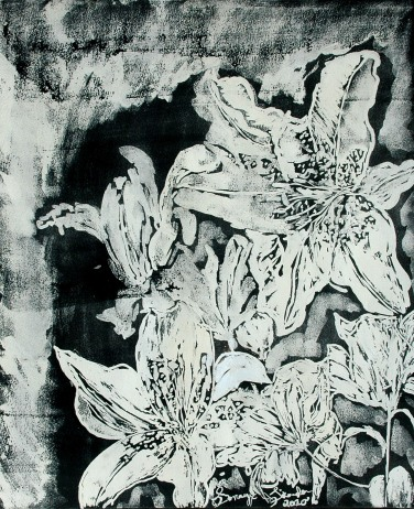 'Untitled Vllll' ink on paper, 19 by 15 inches, 2010 (sold)