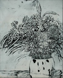 'Untitled Vl' ink on paper, 19 by 15 inches, 2010 (sold)