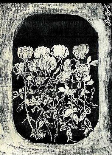 'Untitled lll' ink on paper, 19 by 15 inches, 2010 (sold)