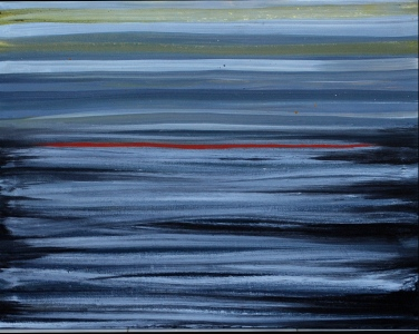 'Wave' oil on canvas, 36 by 36 inches, 2014 (available)