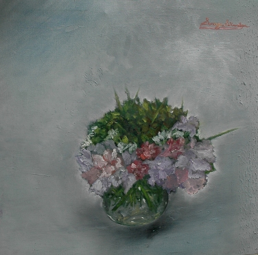 'Composition in gray ll' oil on canvas, 24 by 24 inches, 2011 (sold)