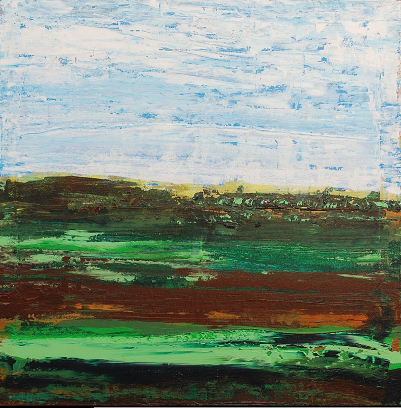 'Untitled' acrylic on canvas, 24 by 24 inches, 2014 (sold)