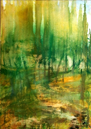 'Passage' oil on canvas, 42 by 32 inches, 2014 (sold)