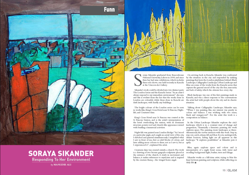 Soraya Sikander is responding to her environment