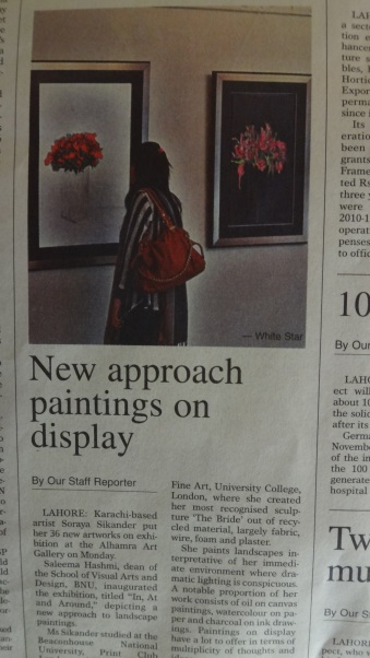 Dawn 'new approach to paintings on display' Soraya Sikander's new work reviewed
