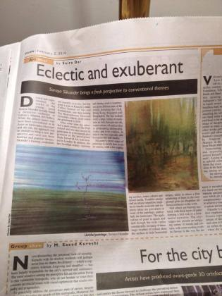 Dawn 'Eclectic and exuberant' Soraya Sikander's exhibition found a receptive audience