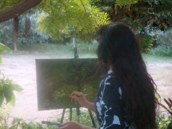 Soraya Sikander always paints on location, outdoor landscape painting