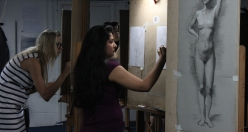 Trained in old masters style classical drawing, Soraya Sikander practices at the London Atelier of Representational Art