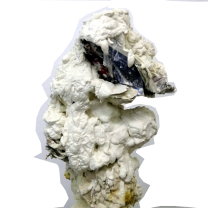 'Horse' plaster and newspaper sculpture