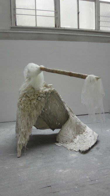 'Bride' sculpture. Materials: Wood, plaster, foam, fabric