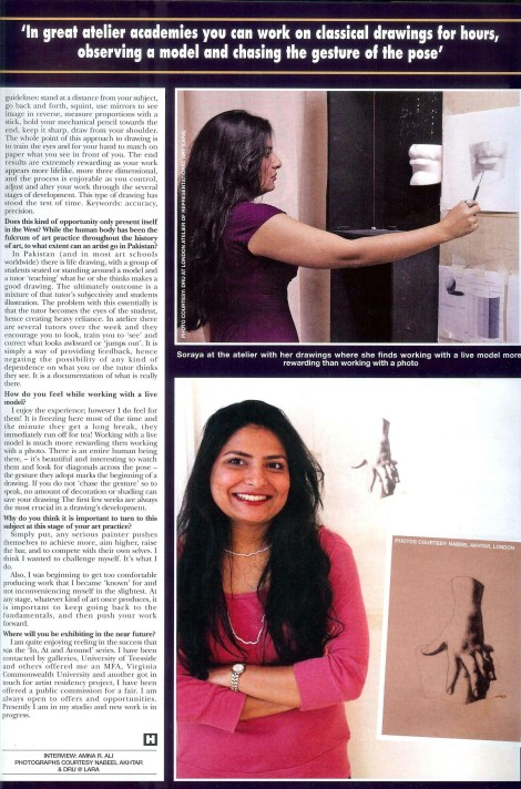 soraya sikander HELLO! interview page2