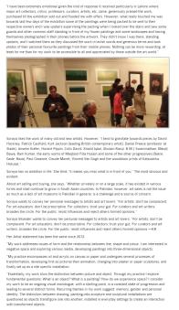 Soraya Sikander's work engages the viewer/visual monlogue pg5