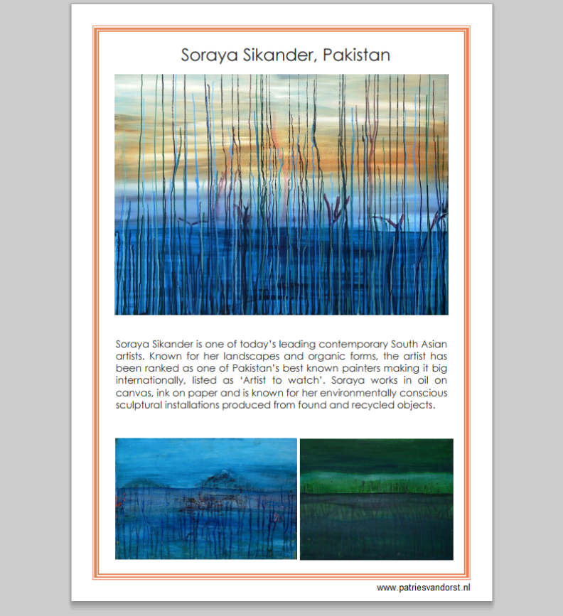Soraya Sikander exhibits at Galerie Patries Van Dorst